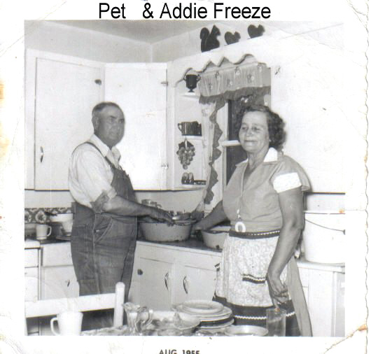 Pet and Addie Freeze - ca. 1955